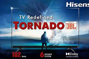 HiSense презентовала аудиофильский телевизор с мощной аудиосистемой от JBL