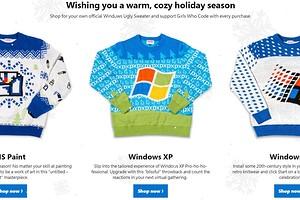 Попроси у бабушки такой: Microsoft начала продавать вязаные свитеры с логотипами Windows XP, Windows 95 и Paint