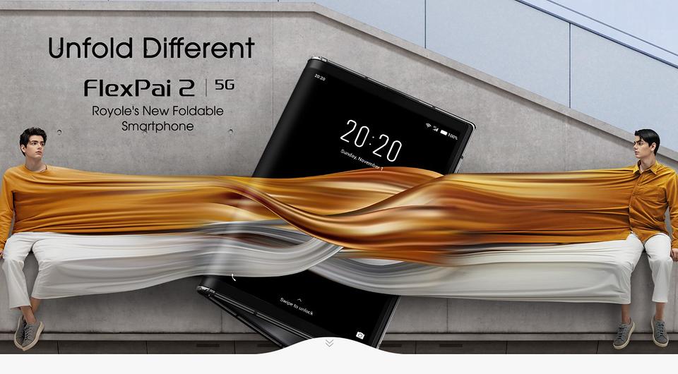 """""""Samsung Galaxy Z Fold 2 для бедных"""": китайцы выпустили складной смартфон с гибким дисплеем Royole FlexPai 2"""