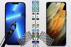 iPhone 13 Pro Max против Samsung Galaxy S21 Ultra — сравнение скорости работы