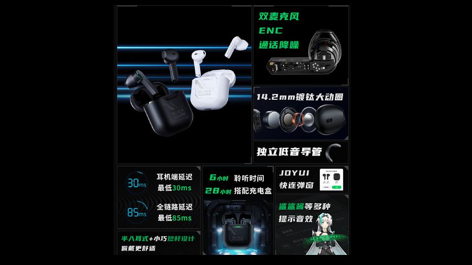 Xiaomi представила полностью беспроводные наушники для геймеров Black Shark