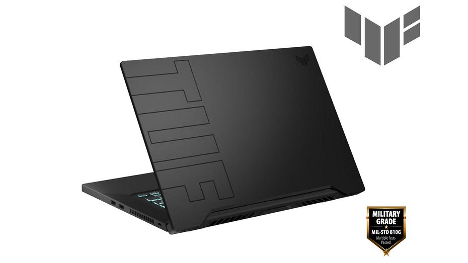 ASUS презентовала мощный, долгоиграющий и защищенный геймерский ноутбук TUF Dash F15
