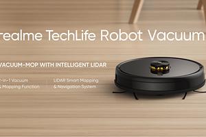 Крутой и недорогой: Realme представила свой первый робот-пылесос
