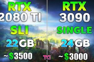 Что лучше, две GeForce RTX 2080 Ti в SLI или одна GeForce RTX 3090 — сравнение в современных играх
