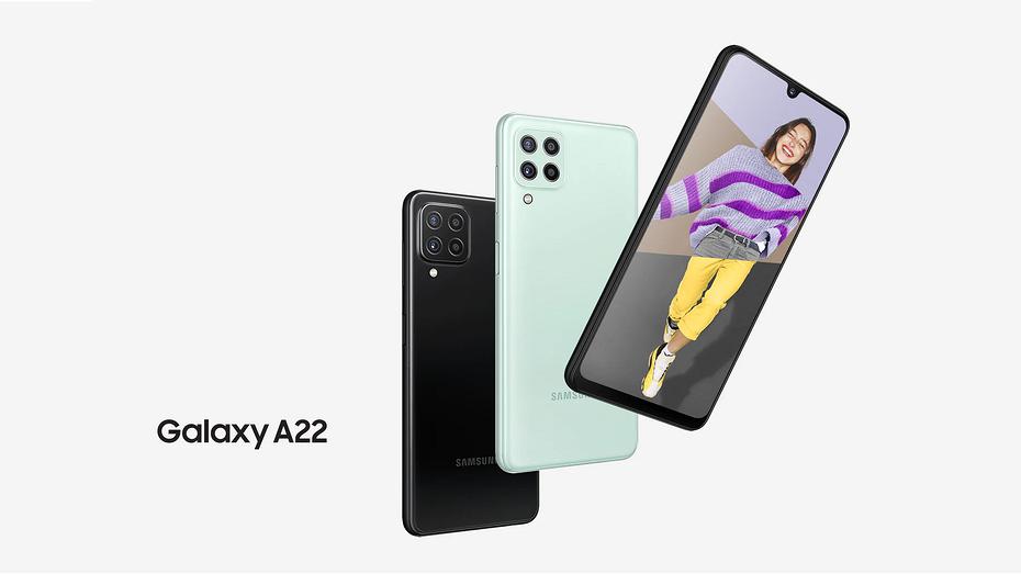И сразу со скидкой: стартовали российские продажи доступного смартфона Samsung Galaxy А22