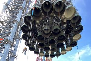 Илон Маск похвастался сверхтяжелой ракетой Super Heavy с 29 двигателями