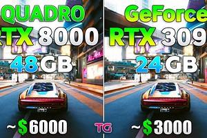 Битва тяжеловесов — Quadro RTX 8000 сравнили с GeForce RTX 3090 в 8 играх