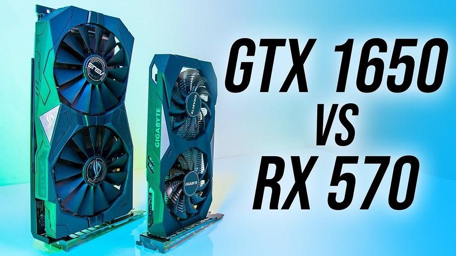 Старенькие, да удаленькие  сравнение видеокарт GeForce RTX 1650 и Radeon RX 570